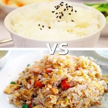 White Rice vs Fried Rice, A Grainy Battle