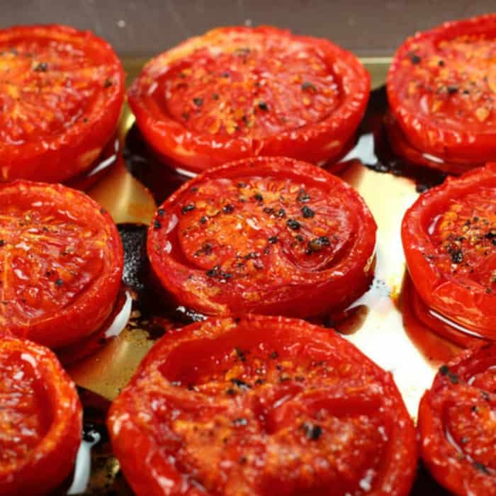 Roasted Tomatoes Recipe: How to Make Roasted Tomatoes Recipe   Homemade Roasted  Tomatoes Recipe