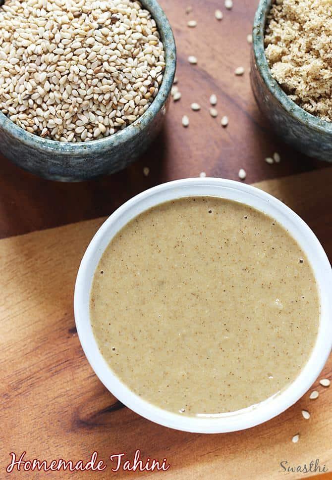 Tahini recipe   How to make tahini   How to make sesame paste at home