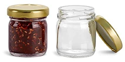 Buy star point Glass Miniature Jam jar, 41 ml - Set of 6 Online at Low  Prices in India - Amazon.in