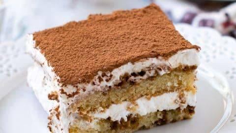 Eggless Tiramisu Cake (Easy Italian Dessert) - Carve Your Craving
