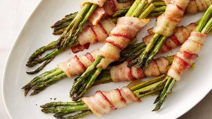 Bacon-Wrapped Asparagus Recipe - Tablespoon.com