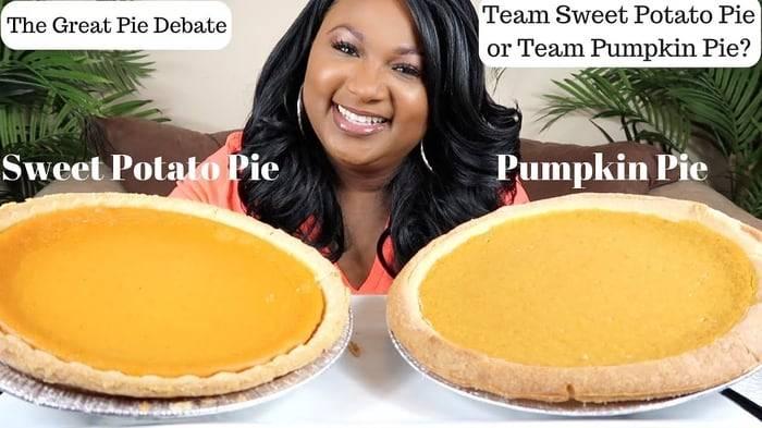 PUMPKIN PIE vs SWEET POTATO PIE MUKBANG - YouTube